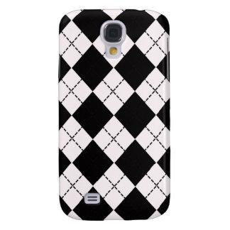 Caixa preto e branco do iPhone 3G de Argyle Capa Samsung Galaxy S4