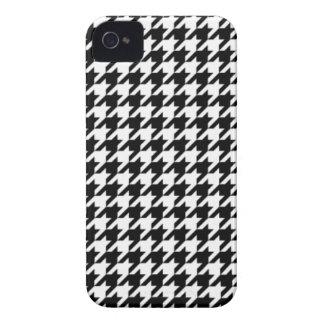 Caixa preto e branco do iPhone 4/4S de Houndstooth Capinha iPhone 4