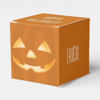 Caixa quadrada do favor do Dia das Bruxas da