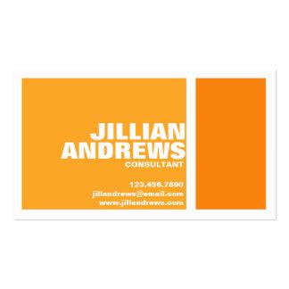 Caixa rachada moderna corajosa - laranja cartão de visita
