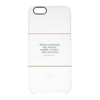 Caixa rara do defletor do iPhone 6 claramente Capa Para iPhone 6/6S Clear