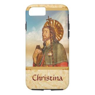 Caixa religiosa dourada do iPhone 7 de Rocco do Capa iPhone 7