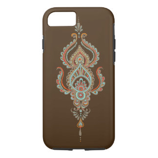 caixa resistente marrom do iPhone 7 de paisley Capa iPhone 7