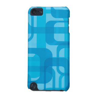 Caixa retro azul do teste padrão capa para iPod touch 5G