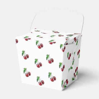 Caixa retro dos doces das cerejas do estilo