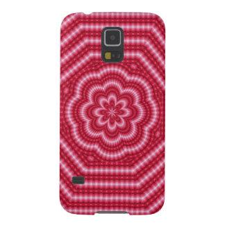 Caixa rosa vermelha da galáxia s5 da arte de Digi Capas Par Galaxy S5