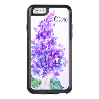 Caixa roxa do iPhone 6/6s de Otterbox do Lilac do