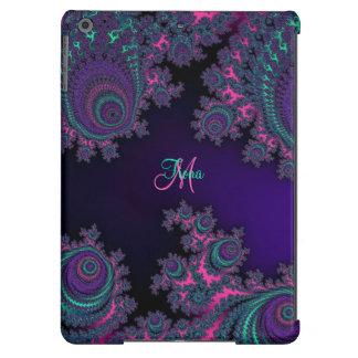 Caixa roxa personalizada do ar do iPad do Fractal Capa Para iPad Air