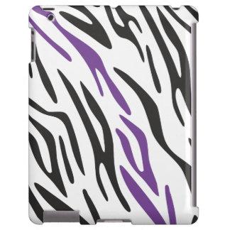 Caixa roxa preta na moda do iPad do impressão da z Capa Para iPad