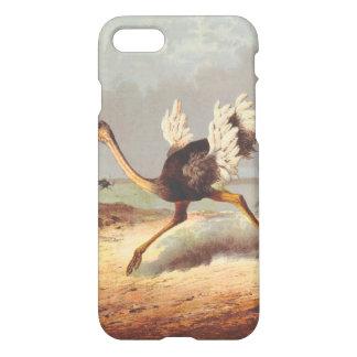 Caixa running colorida da ilustração da avestruz capa iPhone 7