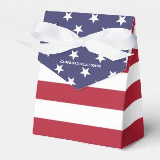 Caixa secreta da graduação da bandeira americana