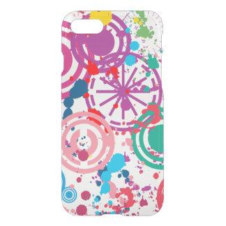Caixa Splattered do defletor de Clearly™ do iPhone Capa iPhone 7