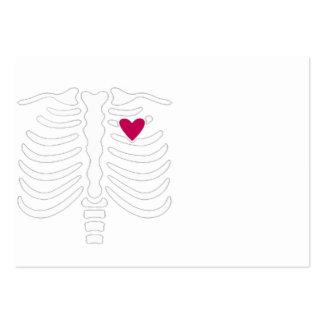Caixa torácica e coração modelos cartao de visita