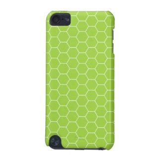 caixa verde ácida do speck do teste padrão do favo capa para iPod touch 5G