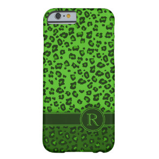 Caixa verde animal do iPhone 6 do monograma do Capa Barely There Para iPhone 6