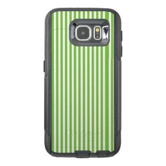 Caixa verde & branca do telemóvel da listra