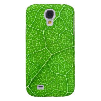 caixa verde da textura da folha da árvore da natur capas personalizadas samsung galaxy s4