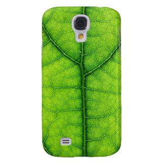 caixa verde da textura da folha da árvore da natur capas samsung galaxy s4