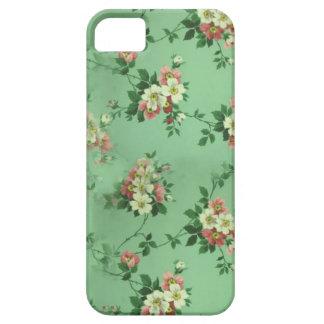 Caixa verde das flores capa barely there para iPhone 5