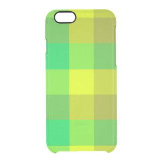 Caixa verde do defletor do iPhone 6s da xadrez Capa Para iPhone 6/6S Transparente