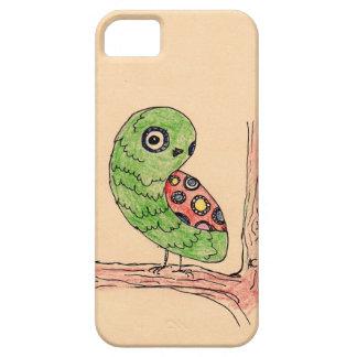 Caixa verde do iPhone 5 do cobrir da coruja Capa Barely There Para iPhone 5