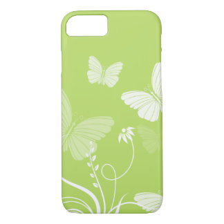 Caixa verde do iPhone 7 das borboletas Capa iPhone 7