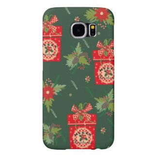 Caixa verde do Natal Capa Para Samsung Galaxy S6