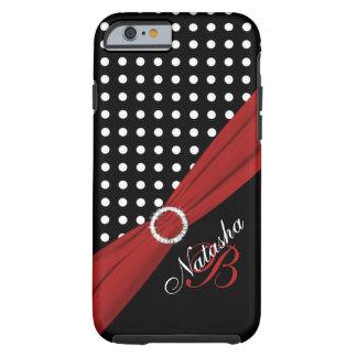 Caixa vermelha branca preta do iPhone 6 das Capa Tough Para iPhone 6