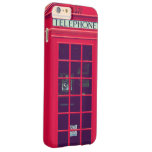 Caixa vermelha britânica original do telefone capa barely there para iPhone 6 plus