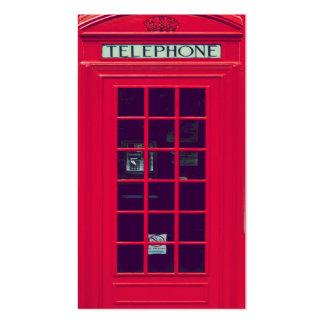 Caixa vermelha britânica original do telefone cartão de visita