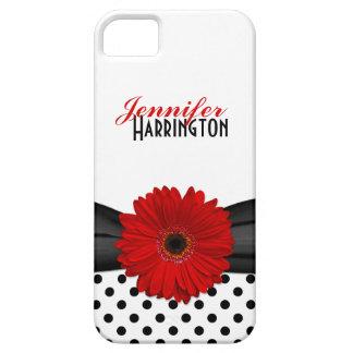 Caixa vermelha chique do iPhone 5 das bolinhas da Capa Barely There Para iPhone 5