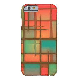 Caixa vermelha da arte abstracta capa barely there para iPhone 6