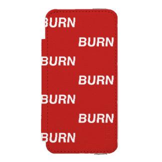 caixa vermelha da carteira do burnXburn Capa Carteira Incipio Watson™ Para iPhone 5