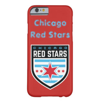 Caixa vermelha das estrelas de Chicago Capa Barely There Para iPhone 6
