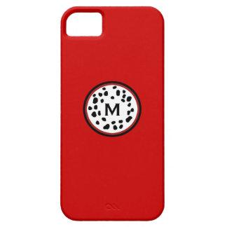 Caixa vermelha de Iphone 5 do monograma de Capas Para iPhone 5