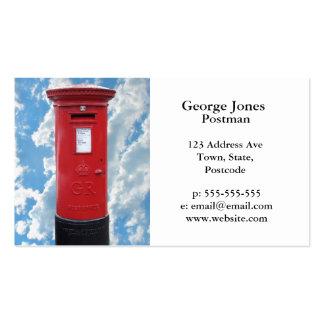 Caixa vermelha do cargo de Ingleses Modelos Cartao De Visita