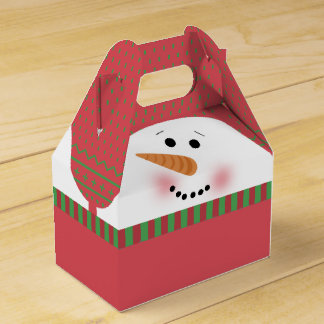 Caixa vermelha do frontão do boneco de neve