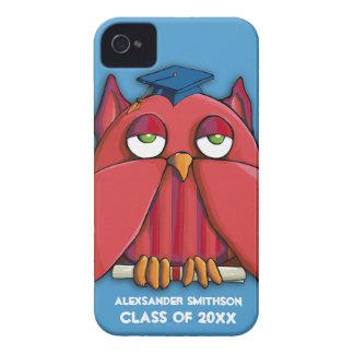 Caixa vermelha do iPhone 4/4S do aqua do formando Capas Para iPhone 4 Case-Mate