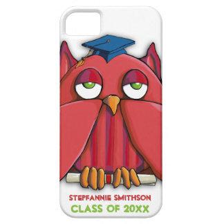 Caixa vermelha do iPhone 5 do formando da coruja Capas Para iPhone 5