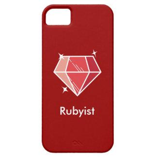 Caixa vermelha do iPhone 5 do rubi de Rubyist do