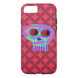 Caixa vermelha do iPhone 7 do crânio do diamante e Capa iPhone 7