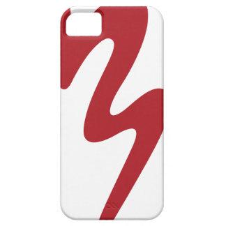 Caixa vermelha do telemóvel do logotipo - banda da capa barely there para iPhone 5
