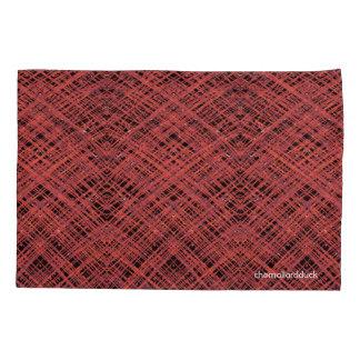 Caixa vermelha do travesseiro da hachura