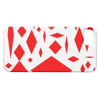 caixa vermelha dos trabalhos de arte do diamante capa barely there para iPhone 5