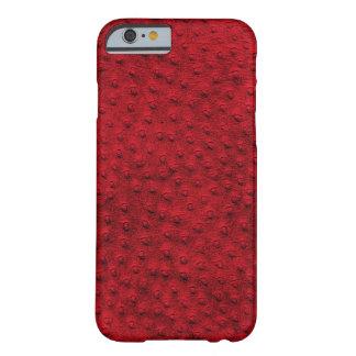 Caixa vermelha exótica do iPhone 6 do couro da Capa Barely There Para iPhone 6