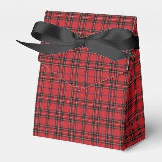 Caixa vermelha & preta festiva do favor da barraca