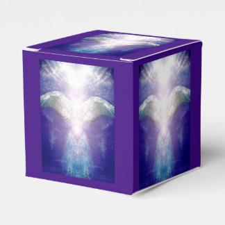 Caixa violeta de prata do cubo do anjo