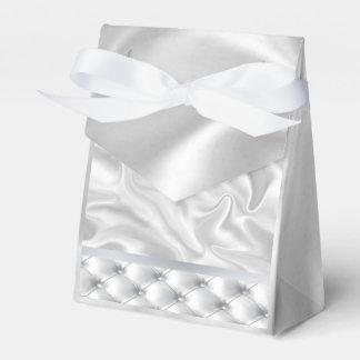 Caixas brancas do favor da edredão do cetim