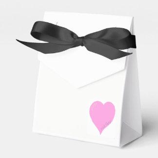 Caixas cor-de-rosa bonito do favor do casamento do