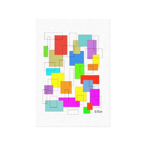 caixas da cor impressão de canvas esticadas